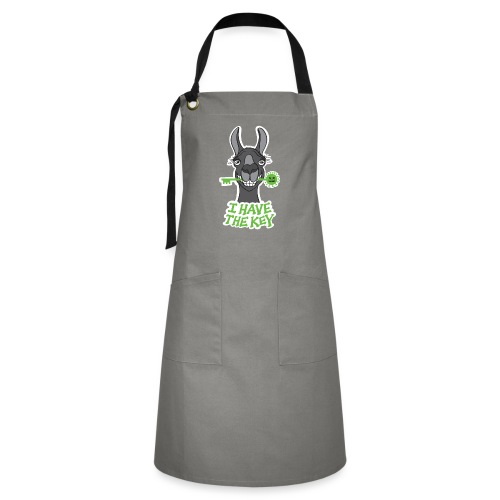 Proud black llama has the key against coronavirus - Artisan Apron