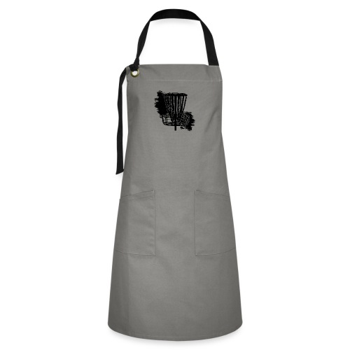 Disc Golf Basket Paint Black Print - Artisan Apron