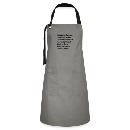 Street Names Black Text - Artisan Apron