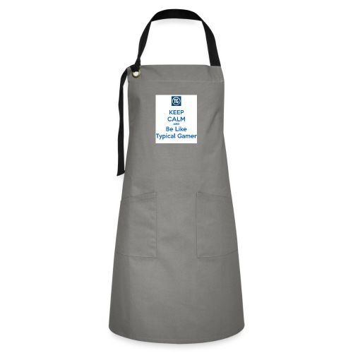 keep calm and be like typical gamer - Artisan Apron