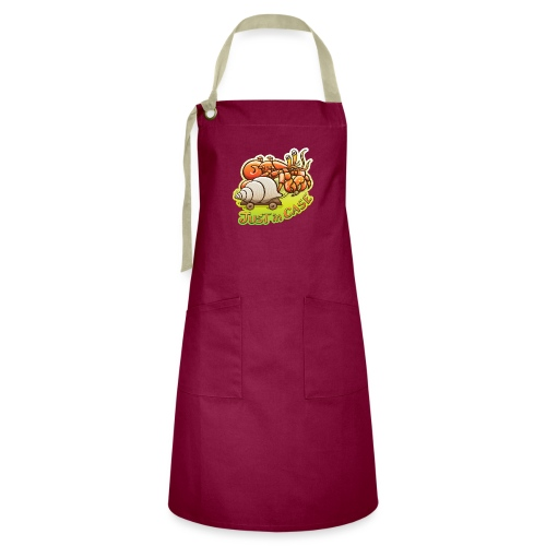 Hermit crab goes out but takes shell, just in case - Artisan Apron
