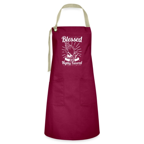 Blessed And Highly Favored (Alt. White Letters) - Artisan Apron