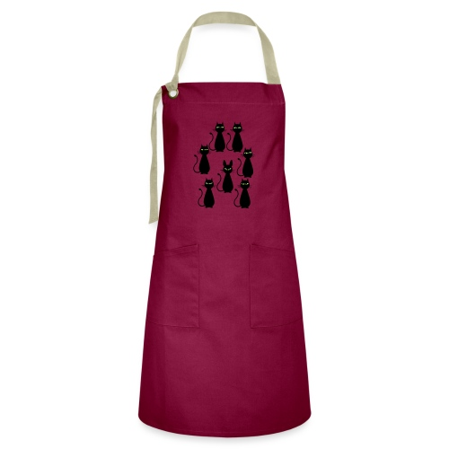 Cats and a cat with rabbit ears - Artisan Apron