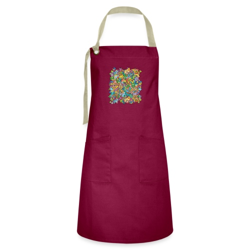 Crazy carnival full of color and cool characters - Artisan Apron