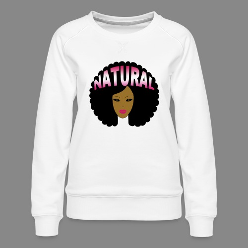 Natural Afro (Pink) - Women's Premium Sweatshirt