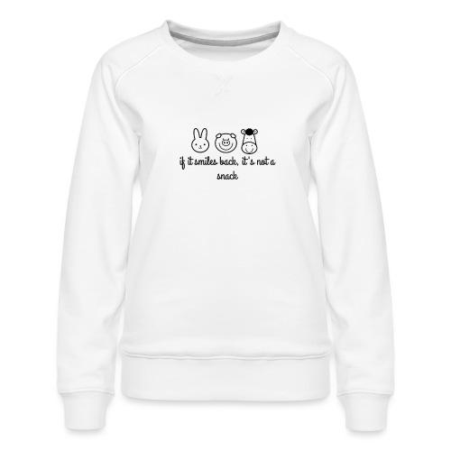 SMILE BACK - Women's Premium Sweatshirt