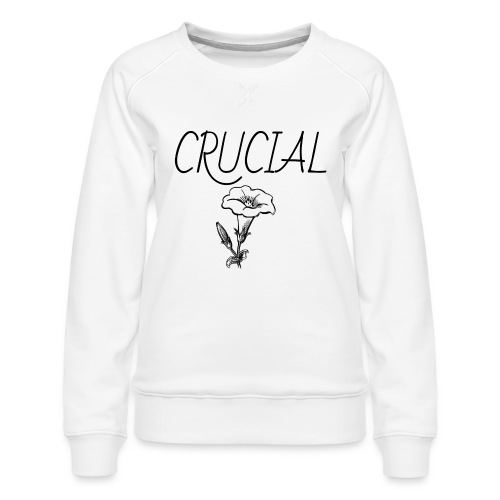 Crucial Abstract Design - Women's Premium Sweatshirt