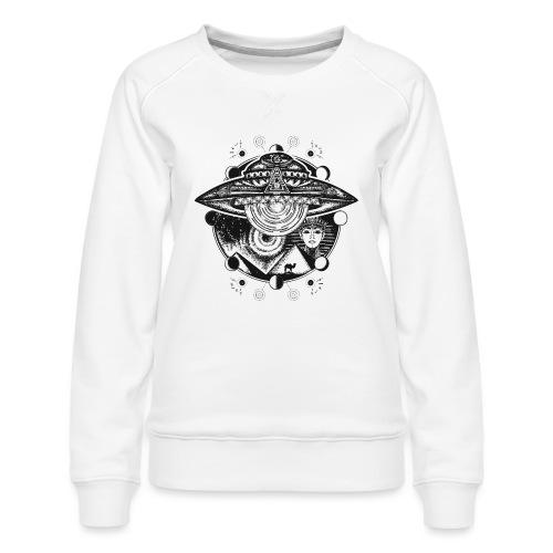 Egyptian Pharaoh Pyramid Alien UFO - Women's Premium Sweatshirt