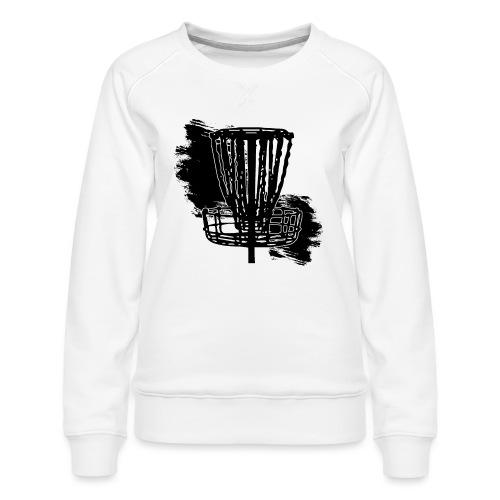 Disc Golf Basket Paint Black Print - Women's Premium Sweatshirt