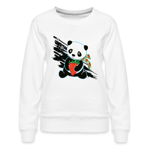 Cute Kawaii Panda T-shirt by Banzai Chicks - Women's Premium Sweatshirt