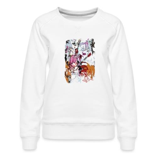 US PSYCH long - Women's Premium Slim Fit Sweatshirt