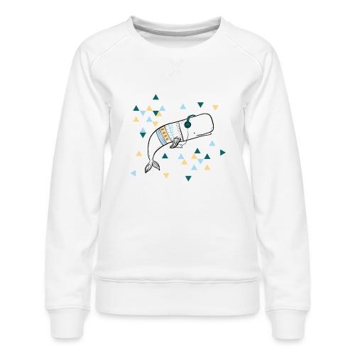 Music Whale - Women's Premium Sweatshirt