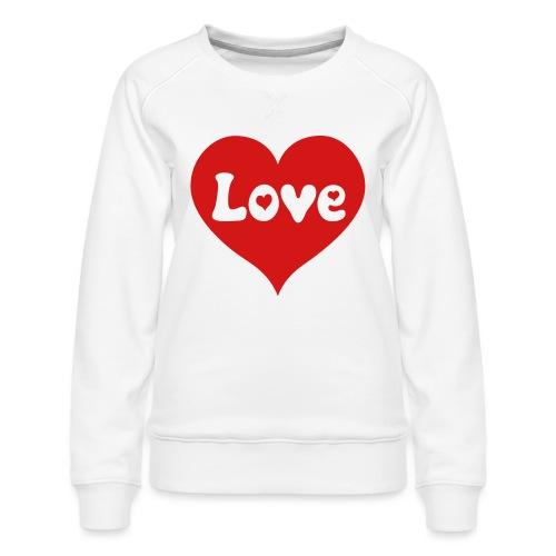 Love Heart - Women's Premium Sweatshirt