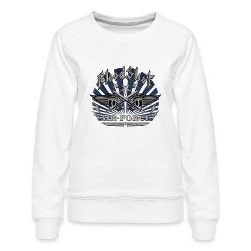 BloodShot Air Force with black - Women's Premium Sweatshirt