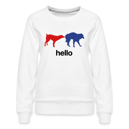 Hello - Women's Premium Sweatshirt