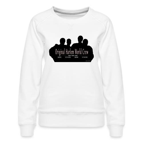 Harlem World Crew the4 - Women's Premium Slim Fit Sweatshirt