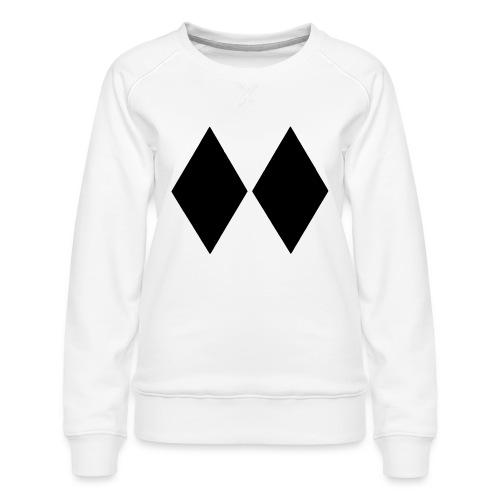 Double Black Diamond - Women's Premium Sweatshirt