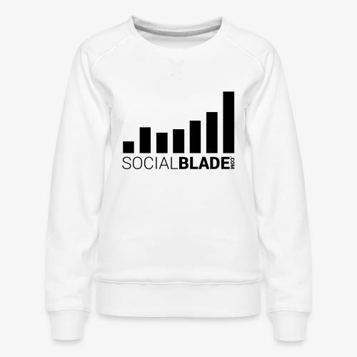 Socialblade (Dark) - Women's Premium Sweatshirt