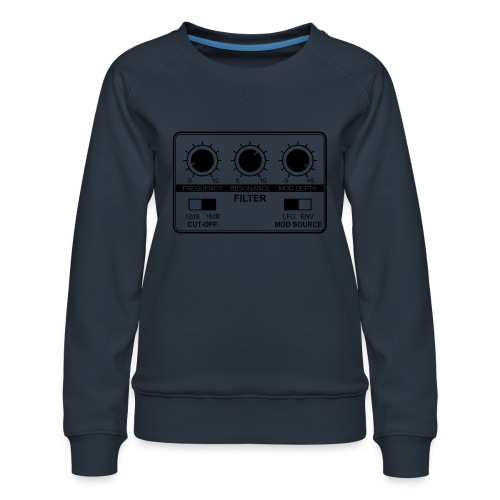 Synth Filter with Knobs - Women's Premium Sweatshirt