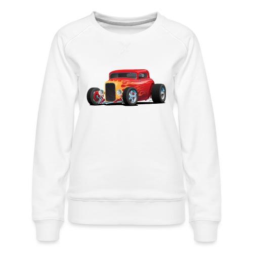 Classic Bold Red Custom Street Rod - Women's Premium Sweatshirt