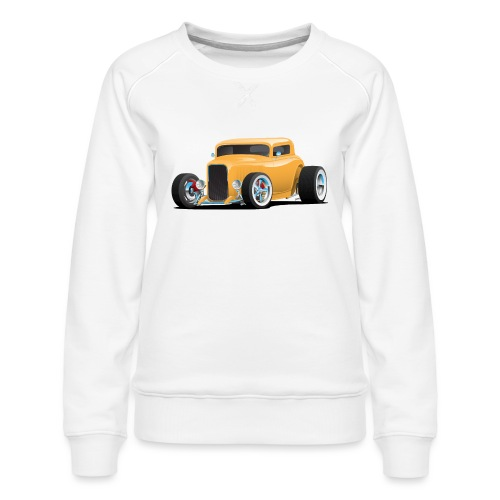Classic American 32 Hotrod Car Illustration - Women's Premium Sweatshirt