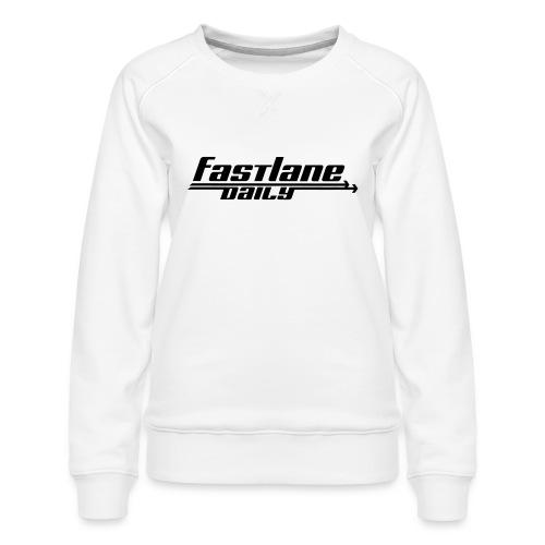 Fast Lane Daily logo - Women's Premium Sweatshirt