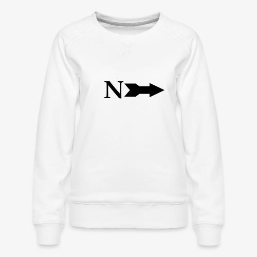 Narrow Logo Black - Women's Premium Sweatshirt