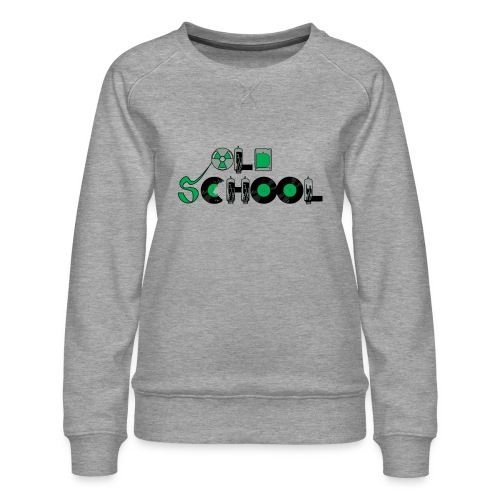 Old School Music - Women's Premium Sweatshirt
