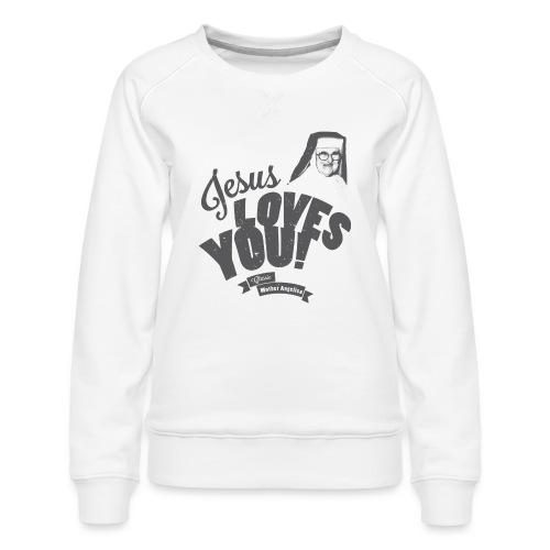 Classic Mother Angelica Dark - Women's Premium Sweatshirt
