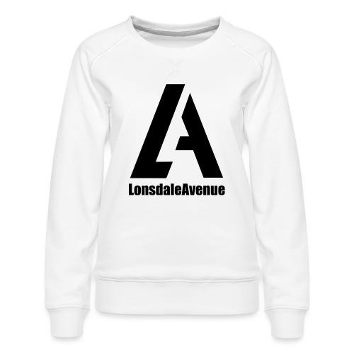 Lonsdale Avenue Logo Black Text - Women's Premium Sweatshirt