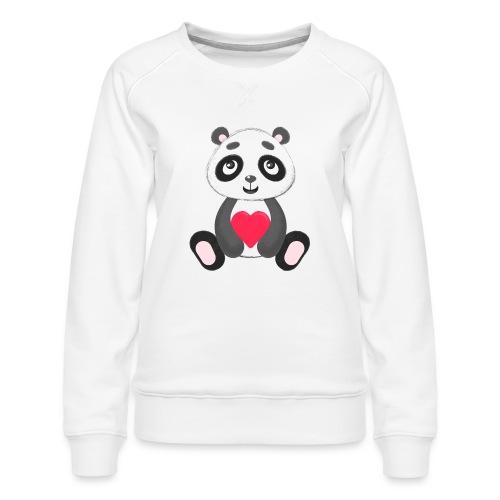 Sweetheart Panda - Women's Premium Sweatshirt
