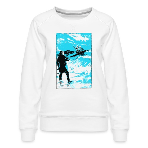 surfer skeletons - Women's Premium Sweatshirt