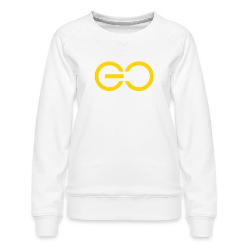 GO logo big - Women's Premium Sweatshirt