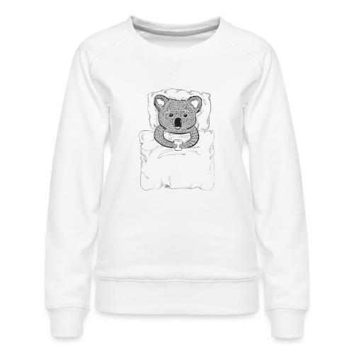 Print With Koala Lying In A Bed - Women's Premium Sweatshirt