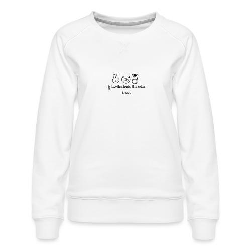 SMILE BACK - Women's Premium Slim Fit Sweatshirt