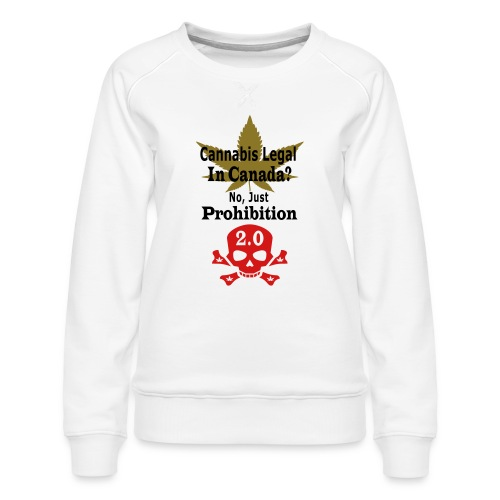 prohibition - Women's Premium Slim Fit Sweatshirt