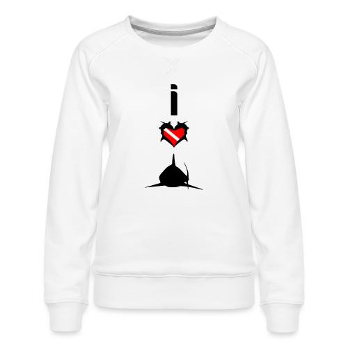 I Love Sharks - Women's Premium Sweatshirt