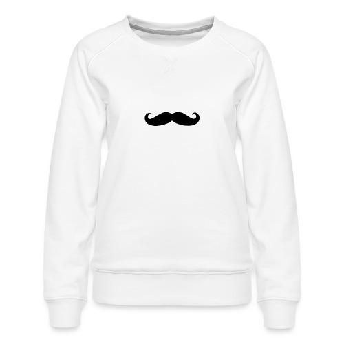 mustache - Women's Premium Sweatshirt