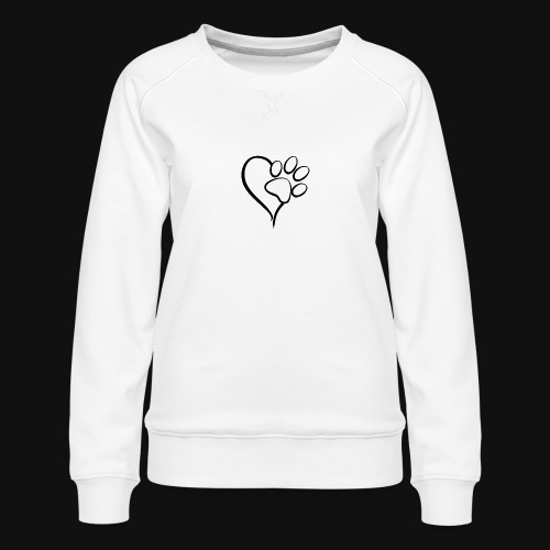 Pawprint on my Heart - Women's Premium Sweatshirt