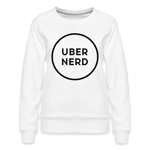 uber nerd logo - Women's Premium Sweatshirt