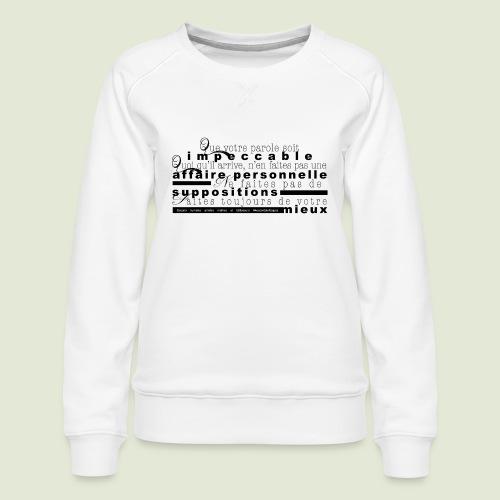 4 Accords Toltèques - Women's Premium Slim Fit Sweatshirt