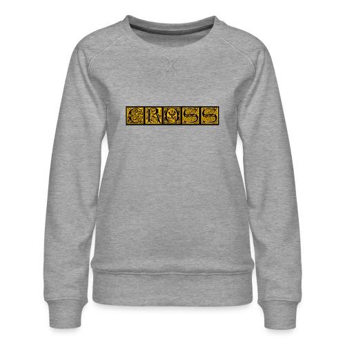 Cr0ss Gold-Out logo - Women's Premium Sweatshirt