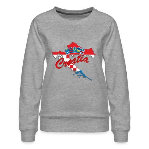 Croatia Football Team Colours T-Shirt Treasure Des - Women's Premium Sweatshirt