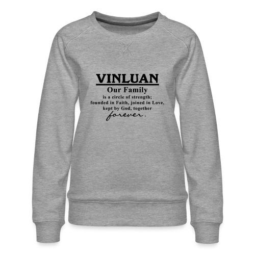 Vinluan Family 01 - Women's Premium Sweatshirt