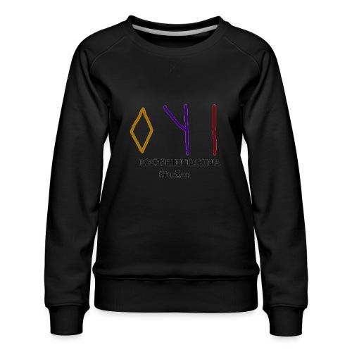 Kyoshin-Tekina Studios logo (black test) - Women's Premium Sweatshirt