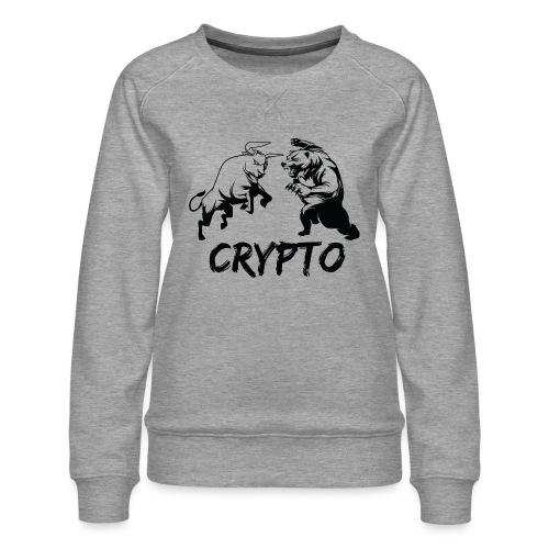 CryptoBattle Black - Women's Premium Sweatshirt