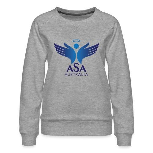 3459 Angelman Logo AUSTRALIA FA CMYK - Women's Premium Sweatshirt