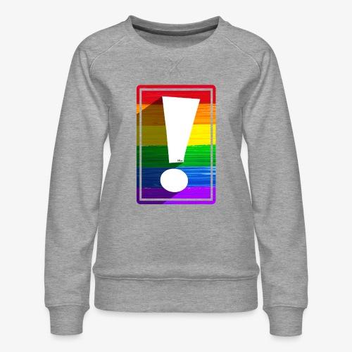 LGBTQ Pride Exclamation Point - Women's Premium Sweatshirt