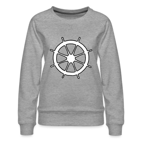 Steering Wheel Sailor Sailing Boating Yachting - Women's Premium Sweatshirt