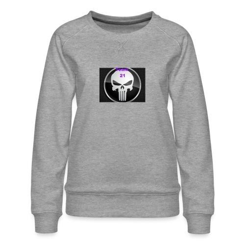 Team 21 white - Women's Premium Sweatshirt